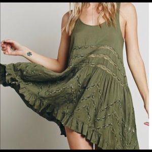 Free People intimately voile lace slip dress